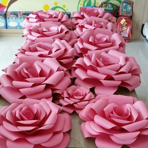 Rosas gigantes de papel lindas artesanato na rede for Rosas de papel