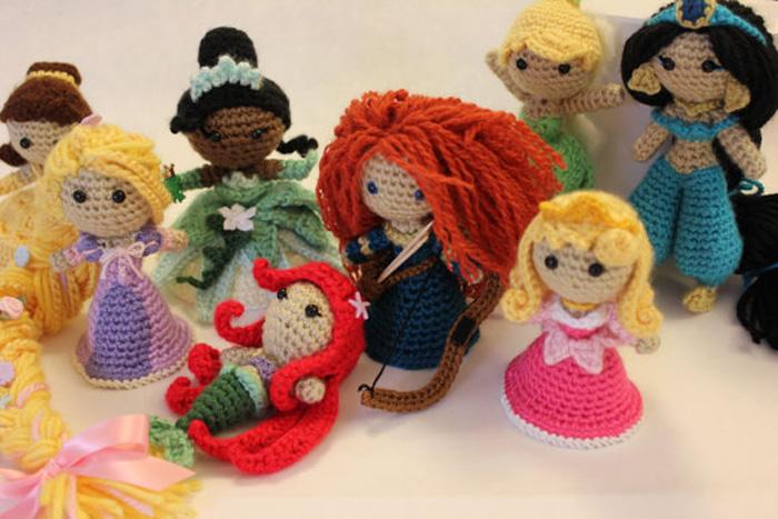 Princesas Disney em crochê amigurumi!