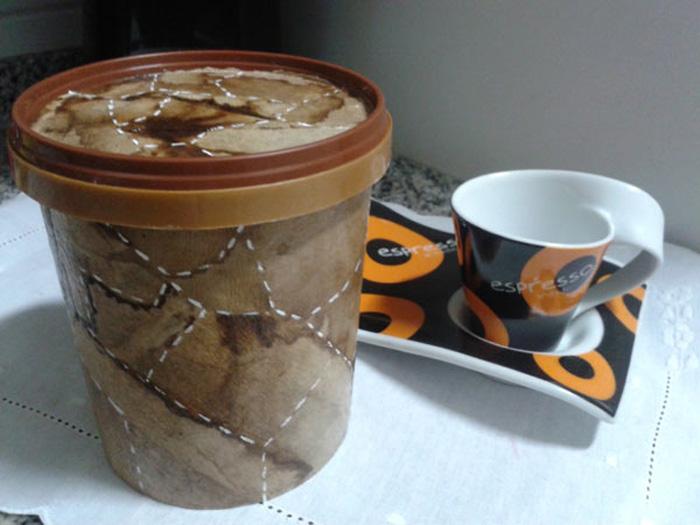 Pote Reciclado Com filtro de Café