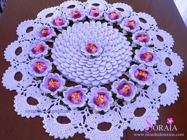 Centro de mesa com flor 3D