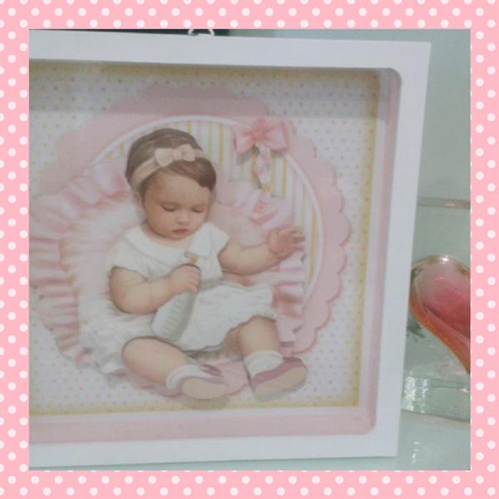 Quadro de Bebê para Meninas