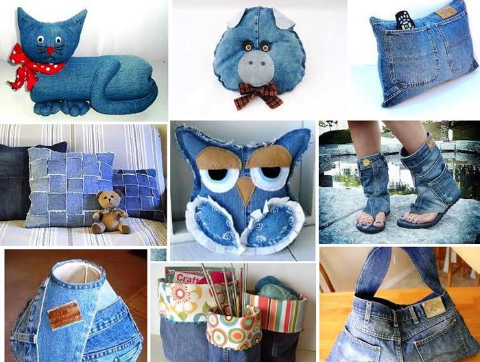 Ideias de Customização de jeans velho
