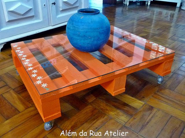 Mesa feita com pallets artesanato na rede - Mesa centro palet ...