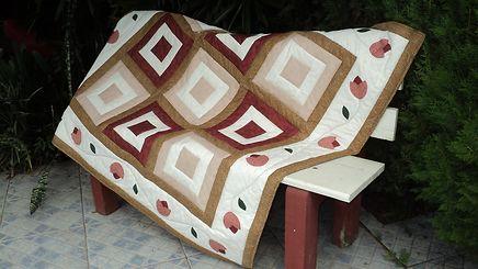 Mantas para sofá em patchwork