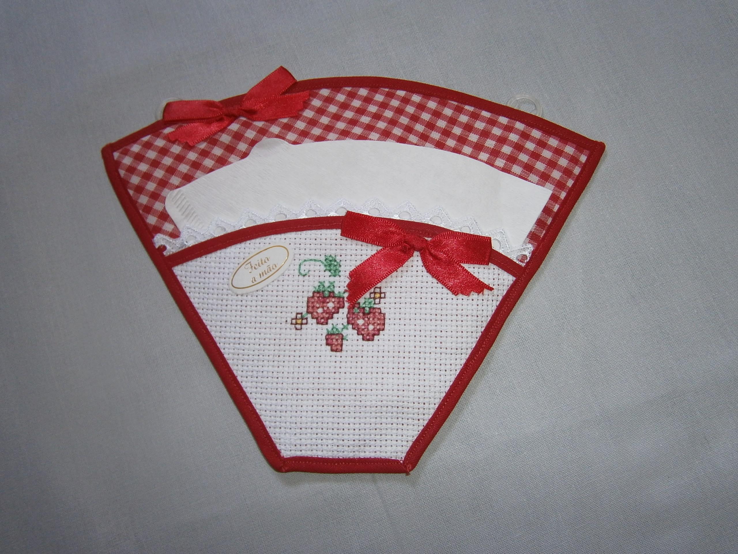 Porta Filtro Xadrez Vermelho