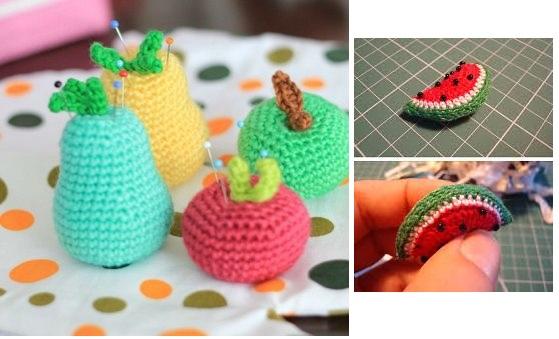 Frutas de crochê