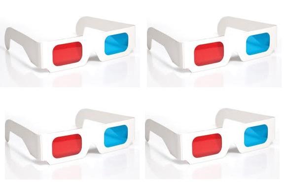 Óculos 3D caseiro