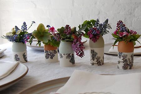 Vasos feitos com casca de ovo