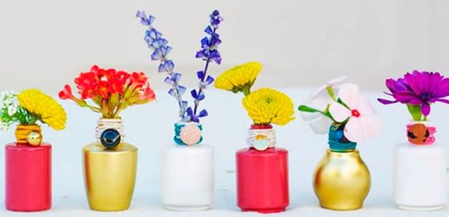 Mini vasos de vidros de esmalte