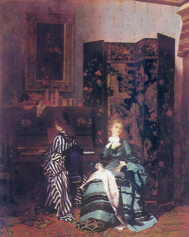 Curiosidade: Pintura a óleo de Chopin (1873), feita por Albert von Keller.