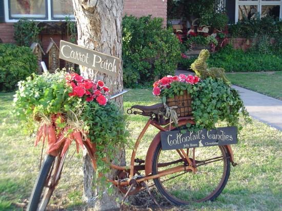 Bicicletas na decoração