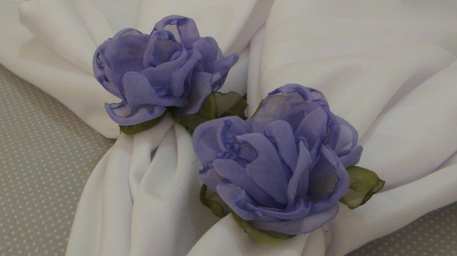 Porta guardanapo de flores