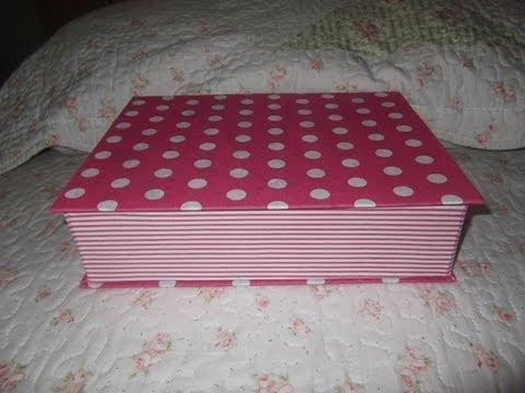 Porta-joia feito com capa de caderno