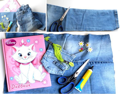 Caderno jeans