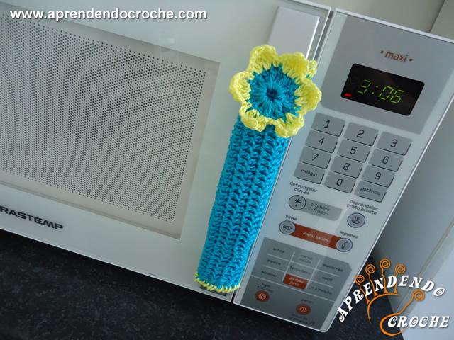 Puxador de Croche para Geladeira e Microondas
