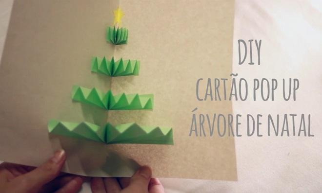 Aprenda como fazer um Cartão Pop-Up: Árvore de Natal