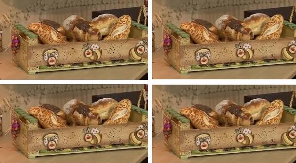 Cesta de pães feita com caixote