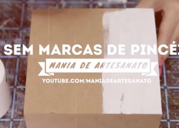 Pintando Sem Deixar Marca de Pincel na Madeira