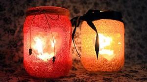 Suporte para velas com Glitter
