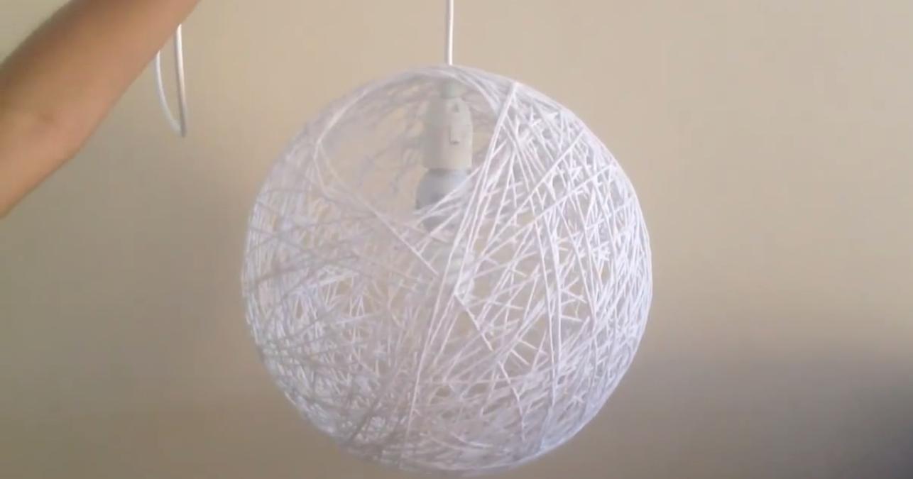 Preferência Luminária de Barbante - Artesanato na Rede EQ02