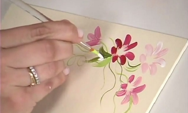 Pintura gestual - Tema Borboletas e Margaridas - Ilustração 1