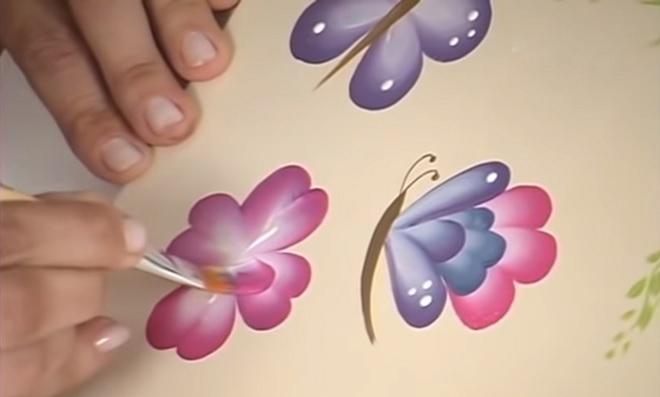 Pintura gestual - Tema Borboletas e Margaridas - Ilustração 3