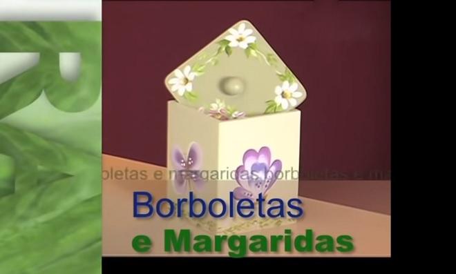Pintura gestual - Tema Borboletas e Margaridas