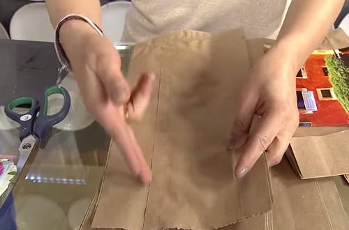 Transformando saco de pão em uma linda embalagem - Passo 1