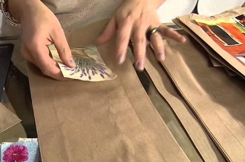 Transformando saco de pão em uma linda embalagem - Passo 3-1