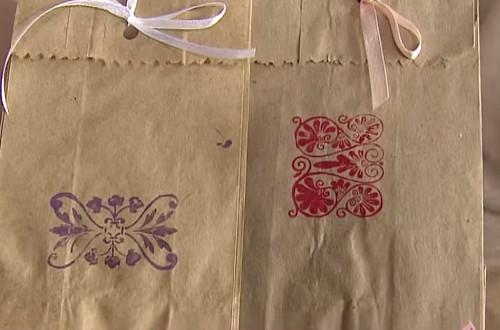 Transformando saco de pão em uma linda embalagem - Passo 4