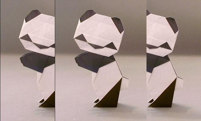 Como fazer um panda origami