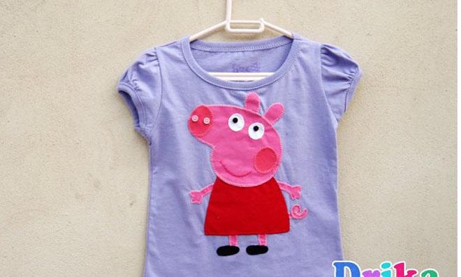 Moldes e sugestões para colocar a Peppa Pig em roupas e acessórios