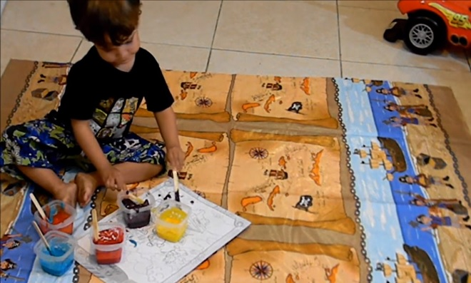 Receita Caseira de Tinta Para Crianças