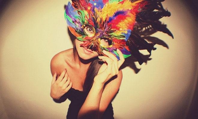 Máscara de Carnaval passo a passo