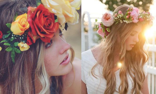 Coroas de flores hippie – Passo a Passo