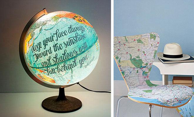 Dicas para utilizar mapas na decoração