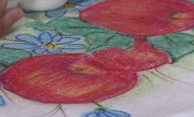 Pintura em Tecido com Giz de Cera