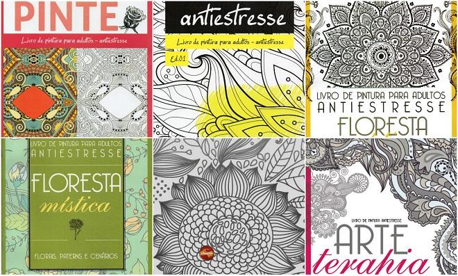 Veja algumas opções de livros de colorir e divirta-se!