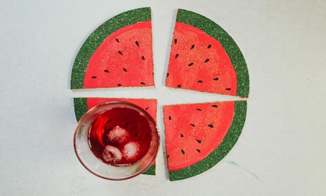 Descanso de copo melancia – Fácil, prático e útil!