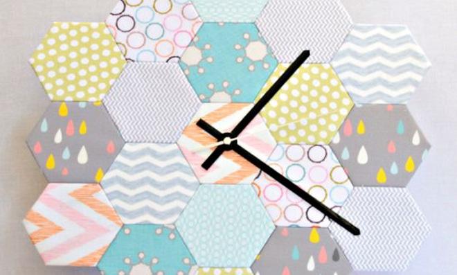 Relógio criativo em tecido, veja agora mesmo como fazer