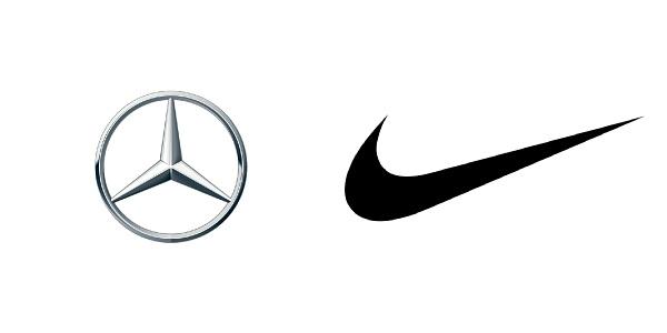 Saiba porque o fosqueamento é muito usado em brindes e souvenirs - Marca da Mercedes Benz e Nike