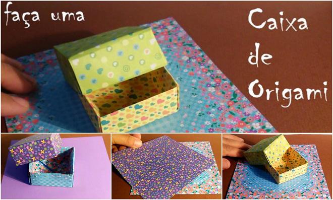 Caixa Simples De Origami Para Presentear Passo A Passo