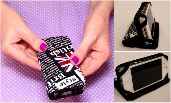 DIY: Capinha de celular usando caixa de leite e ferro de passar
