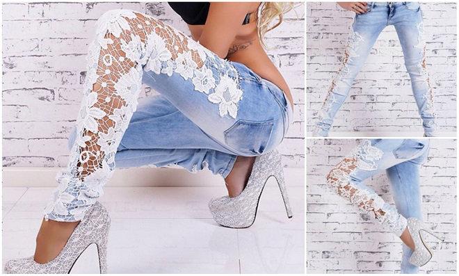 10 ideias de customização com renda em calças Jeans