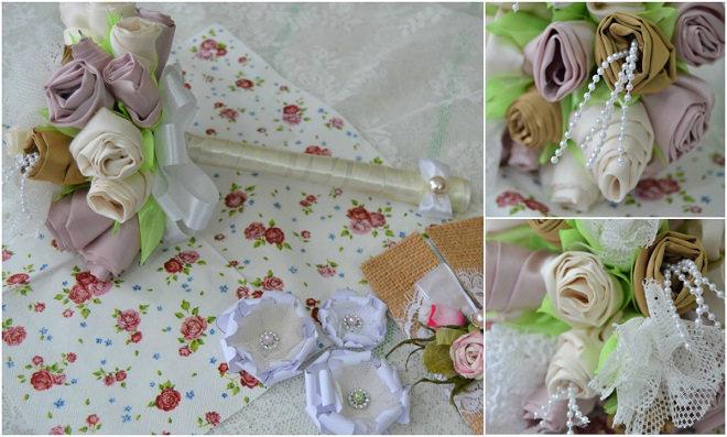 Casamento: Faça um lindo bouquet de noiva com flores de tecido