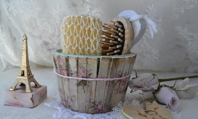 Faça um lindo kit de banho para lembrancinha!