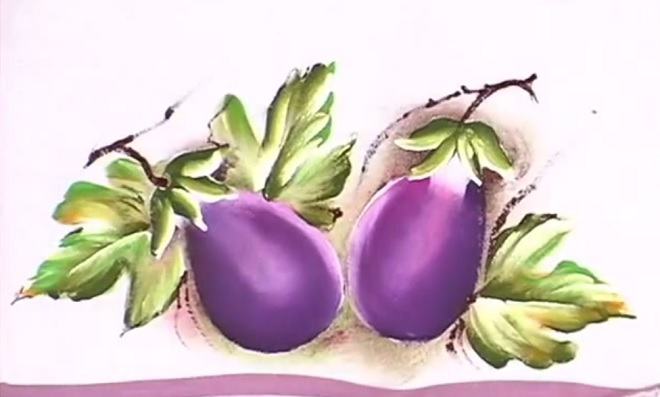 Pintura em Tecido – Modelo legumes