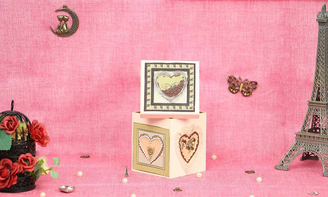 No balanço do amor! Linda caixa romântica com shaker