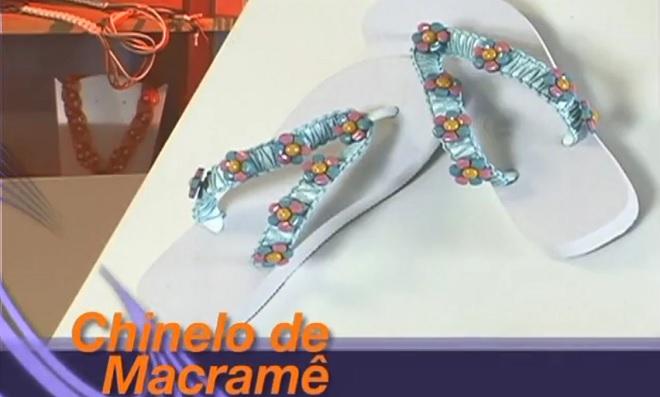 Como decorar chinelos usando a técnica de Macramê