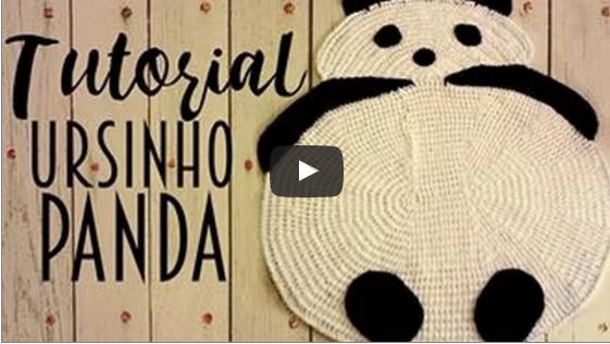 Tapete de crochê Ursinho Panda